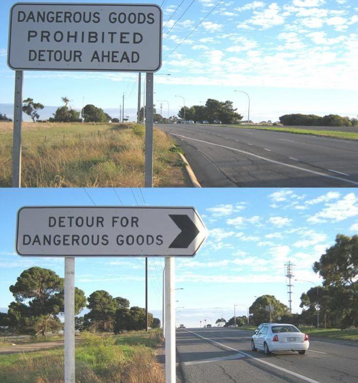 Detour For Dangerous Goods