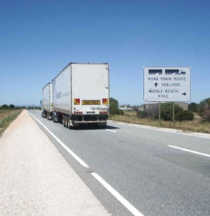 Road Train Route into Adelaide