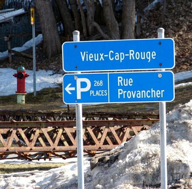 Old Cap-Rouge sign