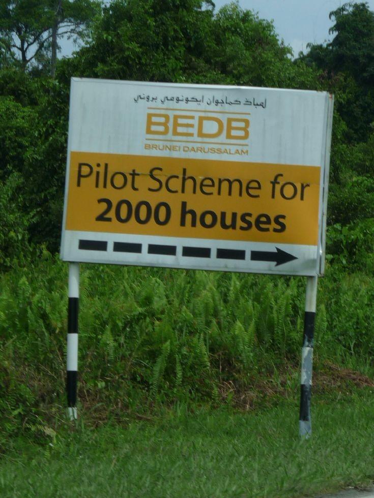 BEDB 2000 houses sign