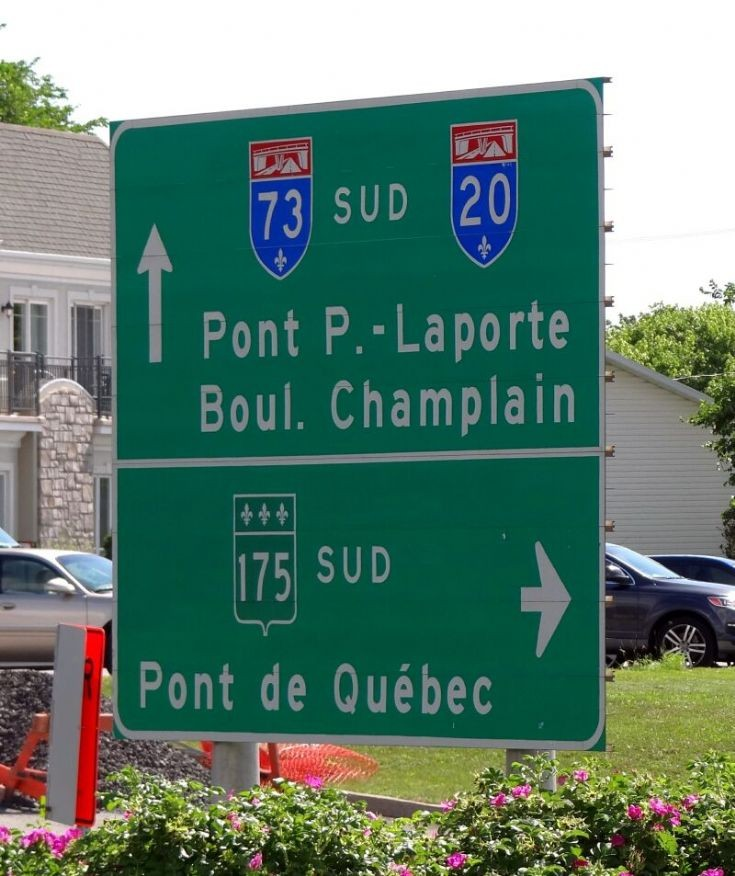 Road sign in Ste-Foy