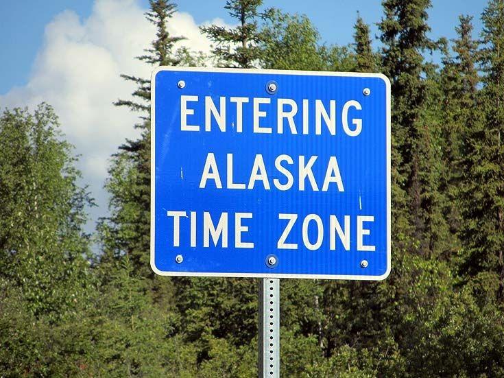 Entering Alaska Time Zone