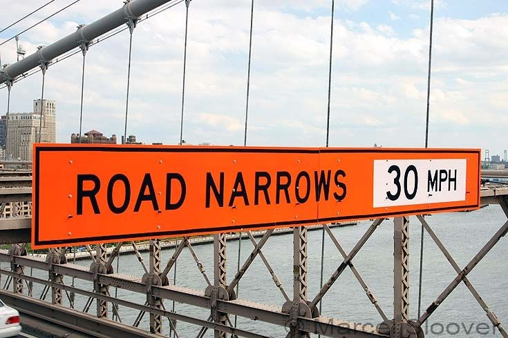 Road Narrows! speed limit