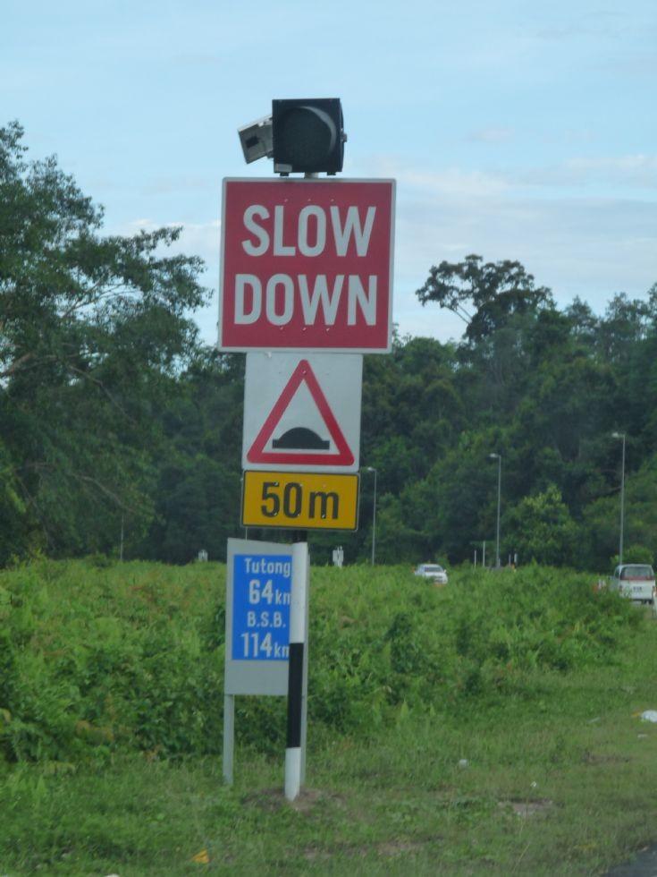 Temporary warning sign