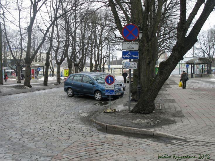Signs in Tallinn Estonia