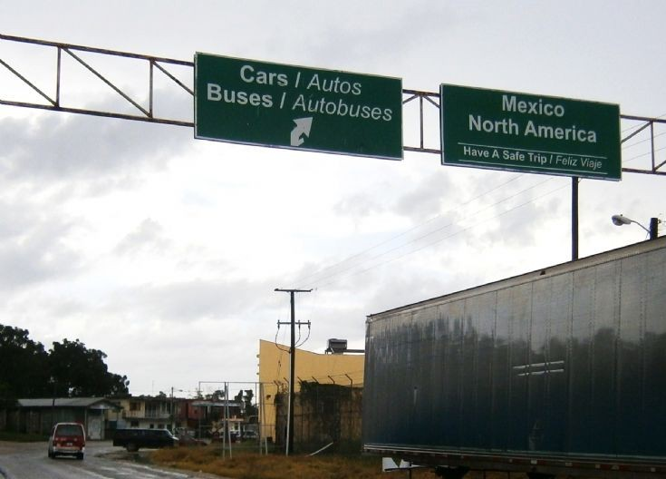 Signs on the border