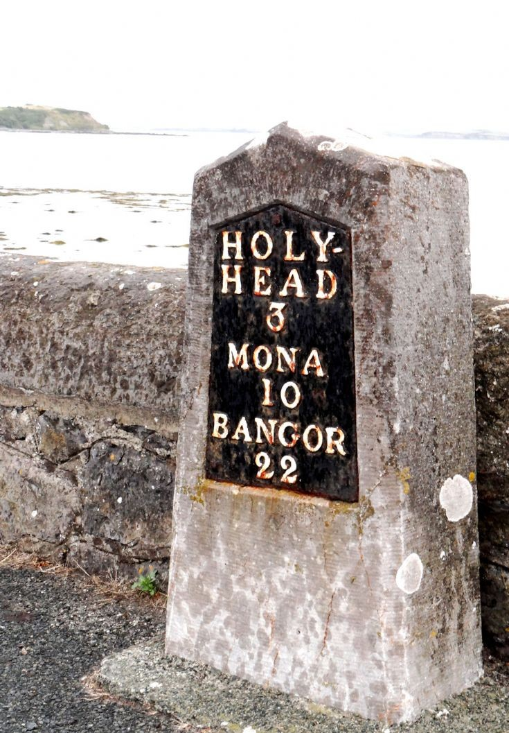 Milestone on Isle of Anglesey