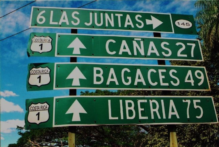 Signs at the roadside in Costa Rica