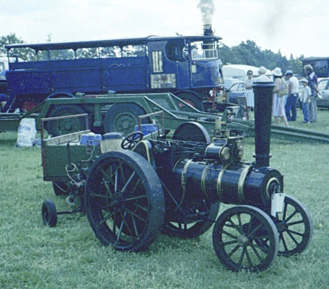 Miniature and steam wagon