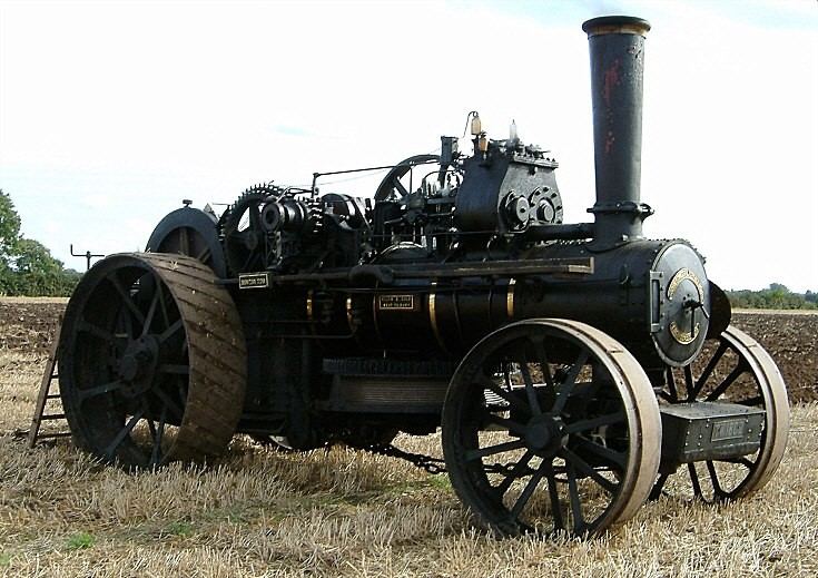 Ploughing engine at National Championship