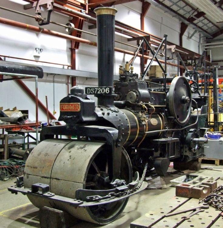 Fowler steam roller at Summerlee heritage Park