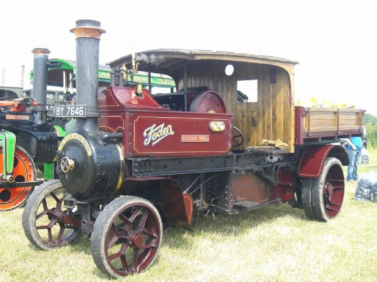 Foden Steam Lorry  BY7646