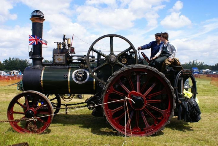 Unidentified traction engine at Rougham