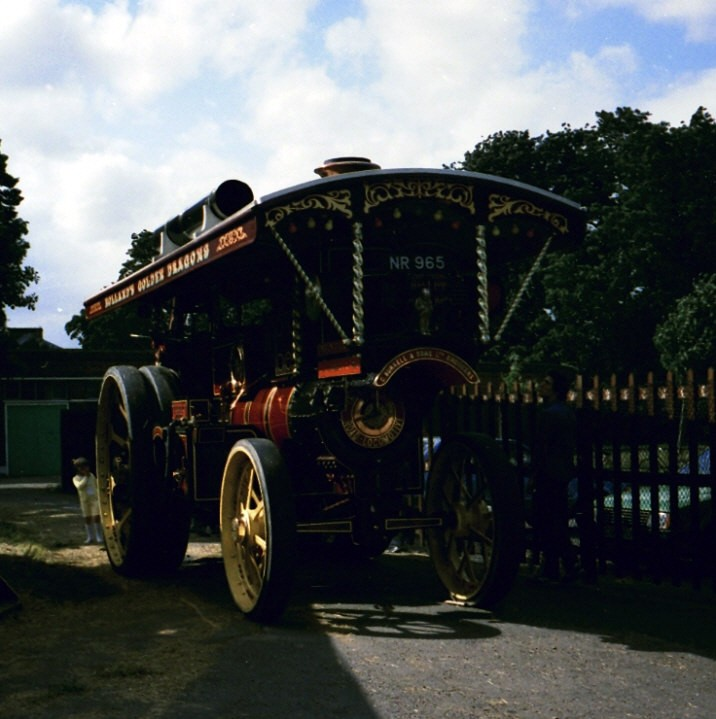 Photo of one of 'The Burrell Road Locomotive'