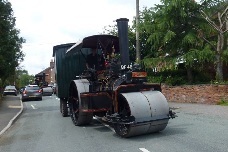Fowler Road Roller seen near Crewe