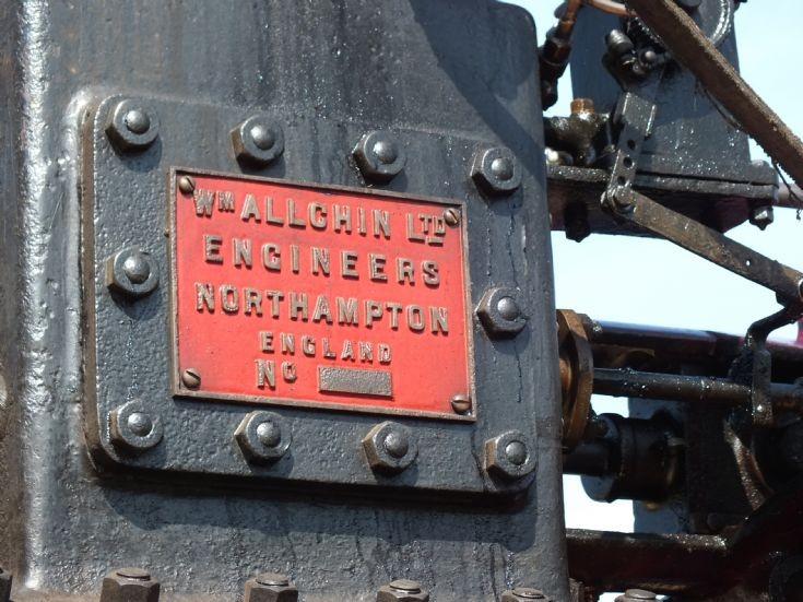 Allchin NU 7483 works plate