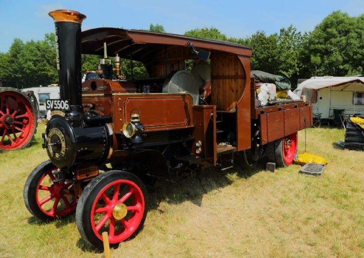 Foster steam wagon at Woodcote Steam Rally